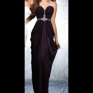 Shimmer by Bari Jay Plum Sweetheart Dress